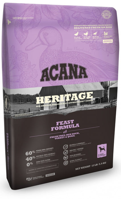 Acana Heritage Feast Formula Dry Dog Food