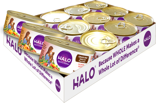 Halo Grain Free Variety Pack Chicken, Salmon and Turkey Canned Cat Food