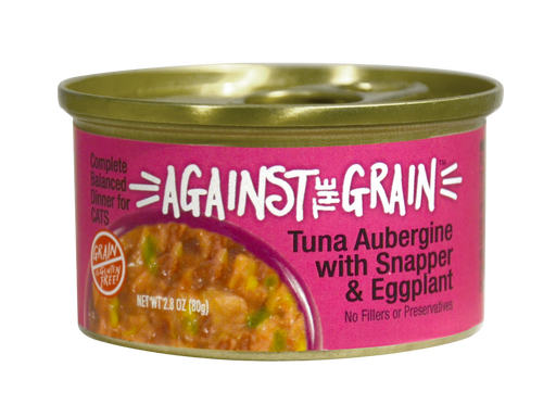 Against the Grain Farmers Market Grain Free Tuna Aubergine With Snapper & Eggplant Canned Cat Food