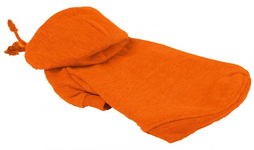 Pet Life Fashion Plush Cotton Hooded Orange Dog Sweater