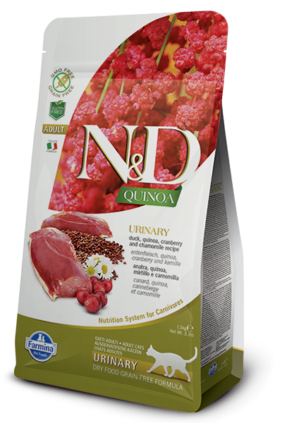 Farmina N&D Natural And Delicious Duck And Quinoa Urinary Recipe Dry Cat Food