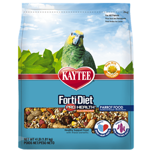 Kaytee Forti-Diet Pro Health with Safflower Parrot Food 4-lbs.