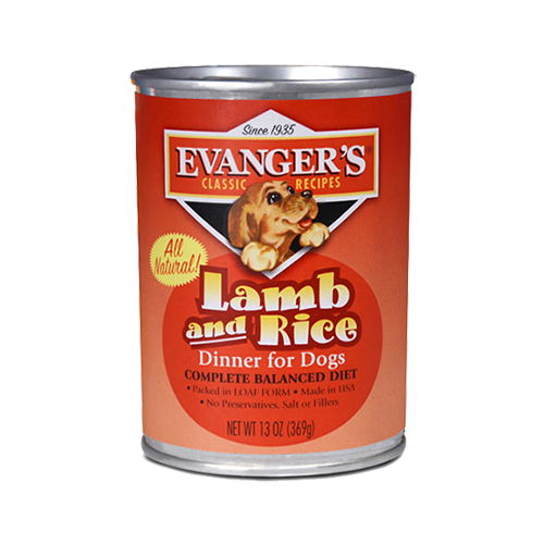 Evanger's Classic Lamb and Rice Dinner 12.8oz Can