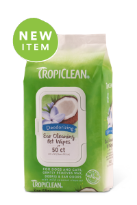 TropiClean Ear Cleaning Wipes 50ct.
