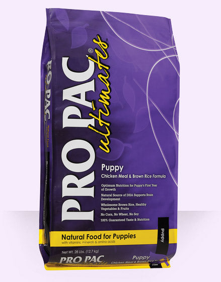 Pro Pac Ultimates Puppy Chicken Meal And Brown Rice Dry Dog Food