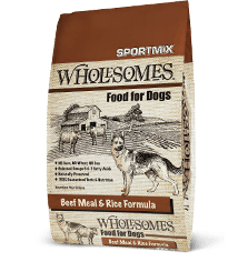 Sportmix Wholesomes Beef Meal And Rice Dry Dog Food