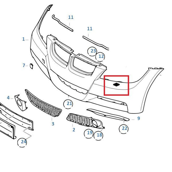 Painted Or Primed BMW Right Headlight Washer Spray Cover E90 E91 3 Series W M: BMW E90 N52 Engine Diagram At Hrqsolutions.co