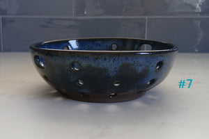 Ceramic Berry Bowl/ Colander- Various Colors
