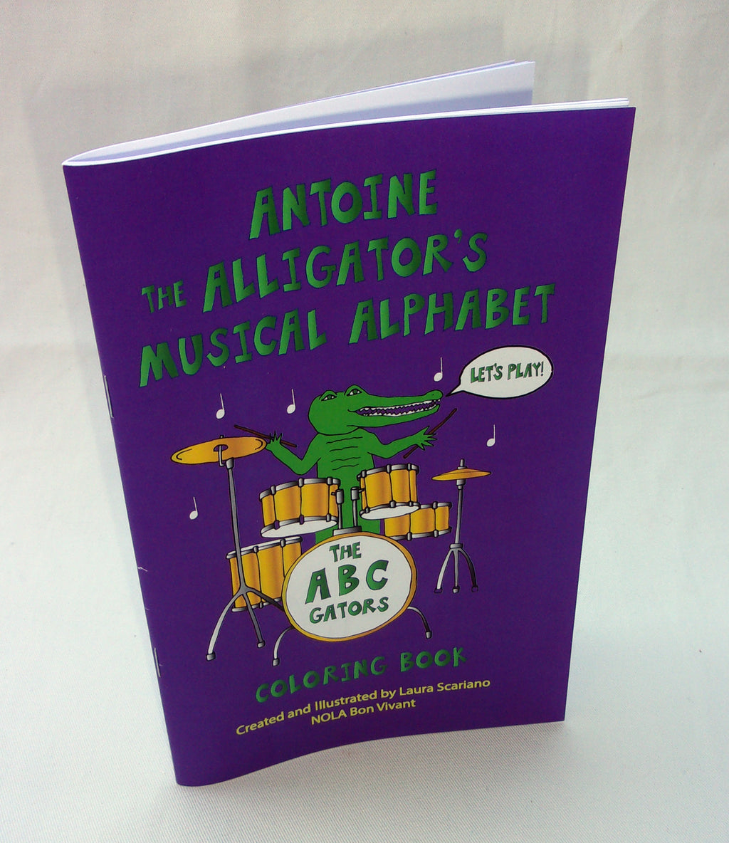 Antoine the Alligator's Musical ABCs Coloring Book