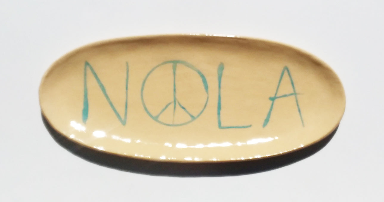 Ceramic Plate- NOLA Peace