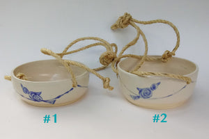 Ceramic Hanging Planters- Birds on Wire -2