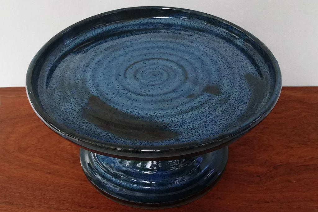 Ceramic Cakestand- Coastal Blue