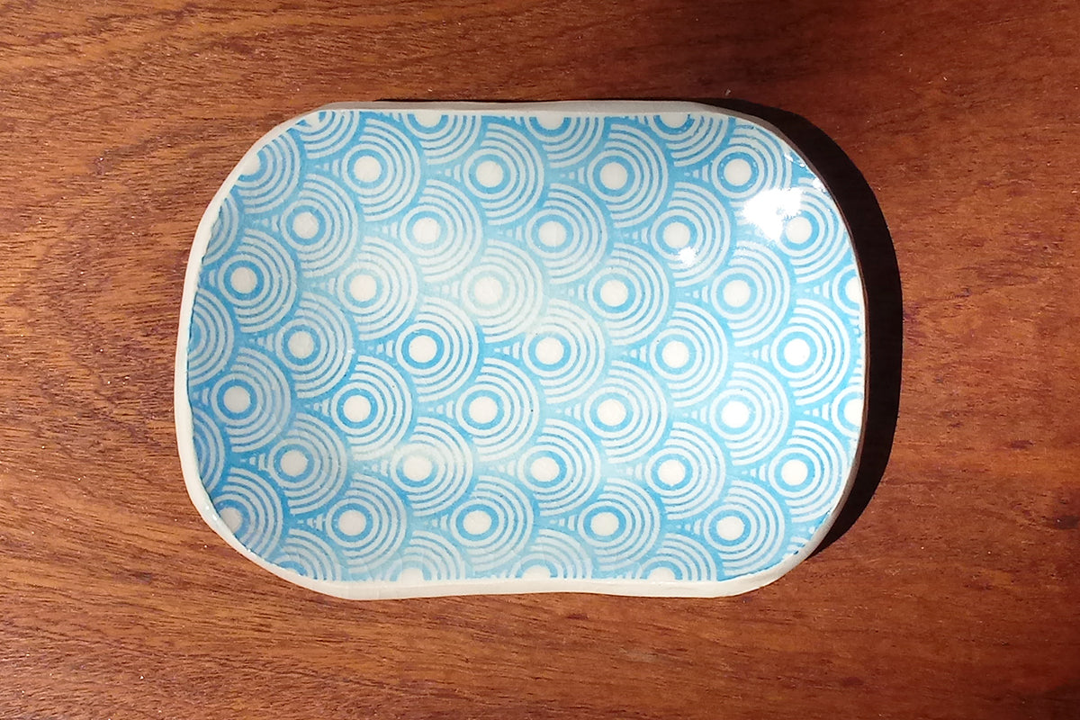 Ceramic Dish- Circles Print- various colors