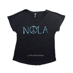 Tee: NOLA Peace Ladies Dolman Tee