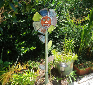 Flower Totem Yard Sculpture- MADE TO ORDER