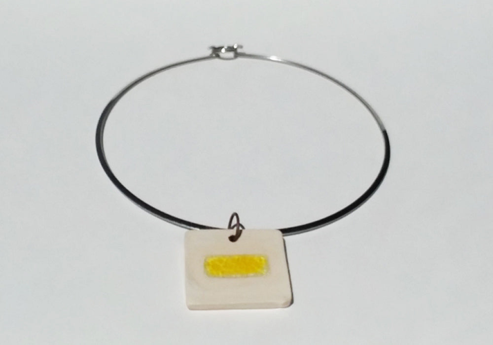 Terrazzo Glass Ceramic Pendant Necklace