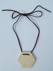 Ceramic Hexagon Pendant