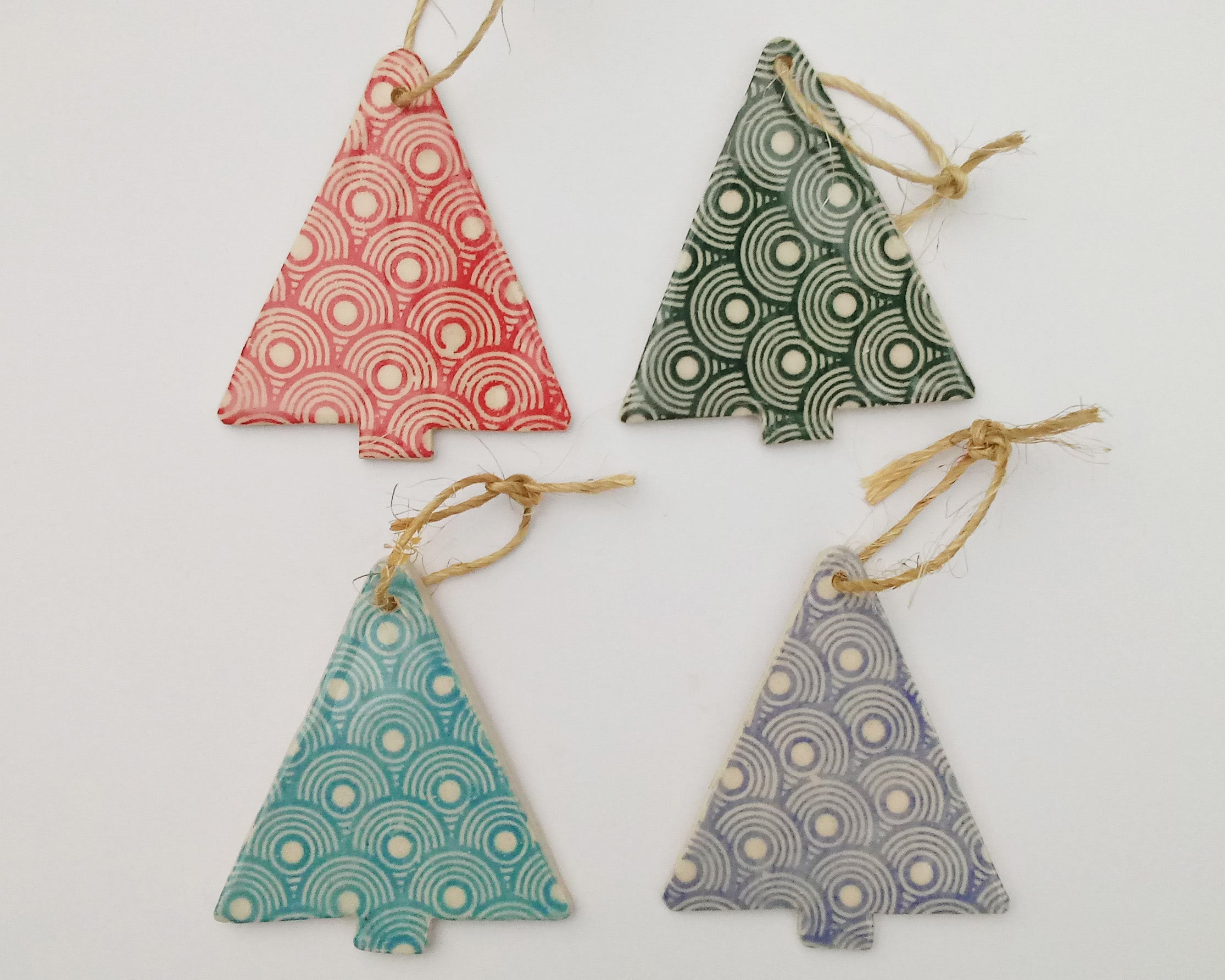 Ornament- Silkscreened Christmas Tree