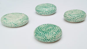 Porcelain Wall Sculpture- Set of 4 Discs