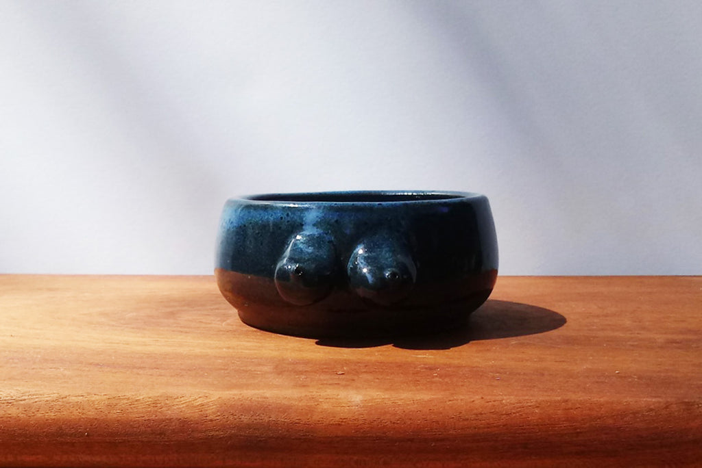 Boob Bowl / Tatas Teacup- Bayou Blue