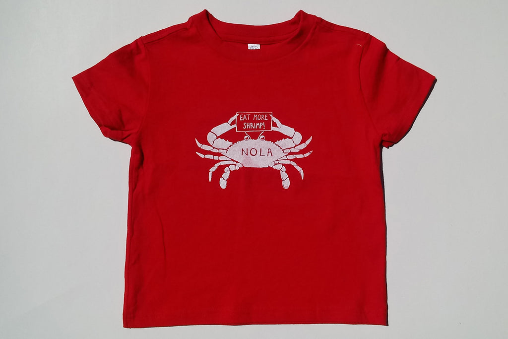 "Youth Tee- The ""Eat More Shrimp"" Crab"