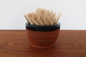 Ceramic Cup- Toothpick/Matches Holder