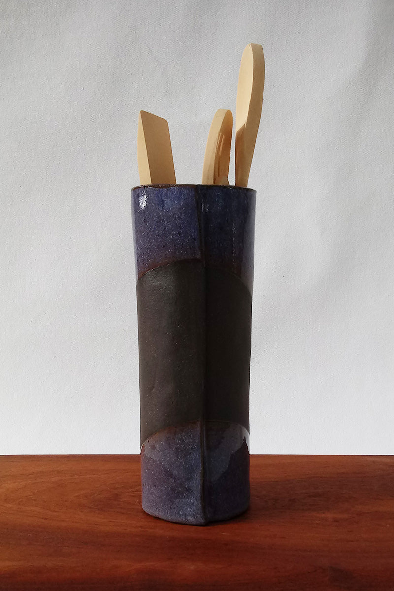 Ceramic Vase- Lilac and Chocolate Clay