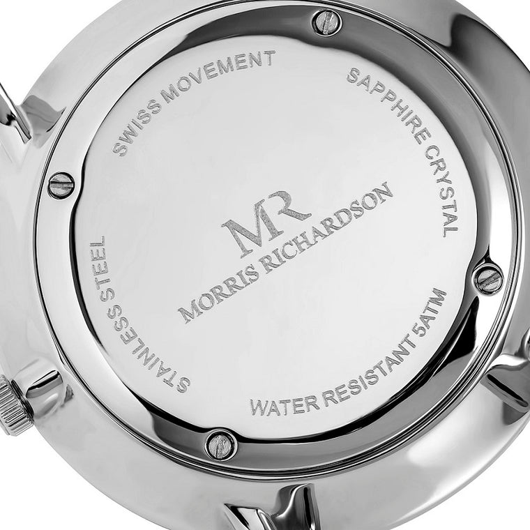 Mens Silver Watch Case Back - Morris Richardson