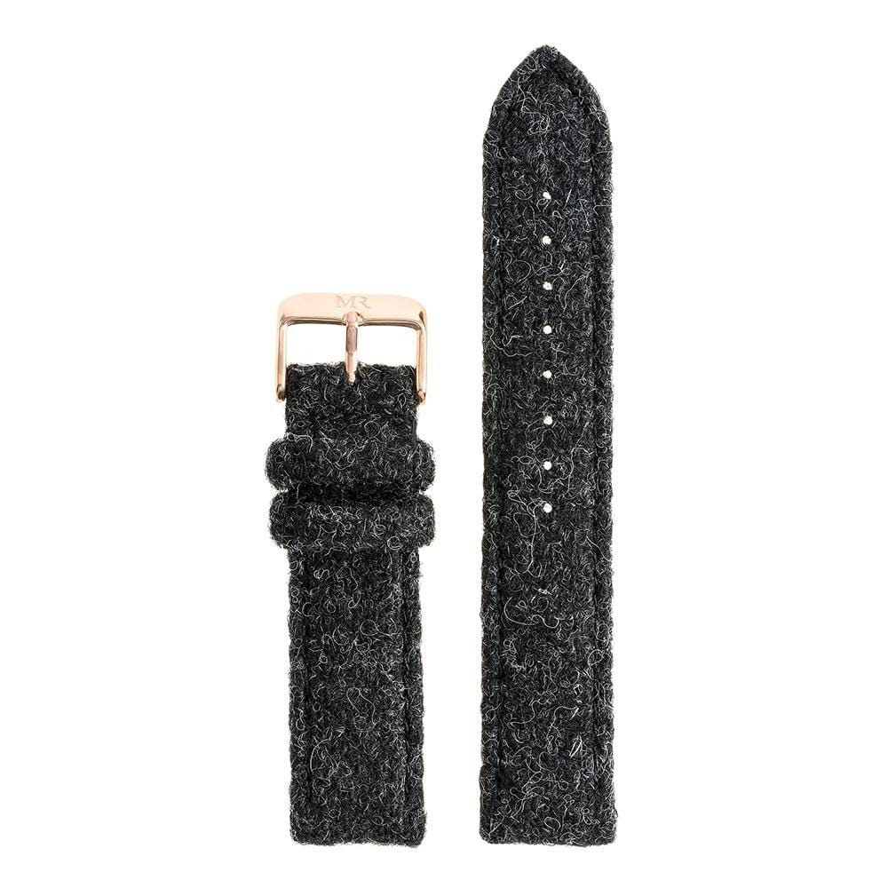 Mens Black Harris Tweed Watch Strap - Morris Richardson