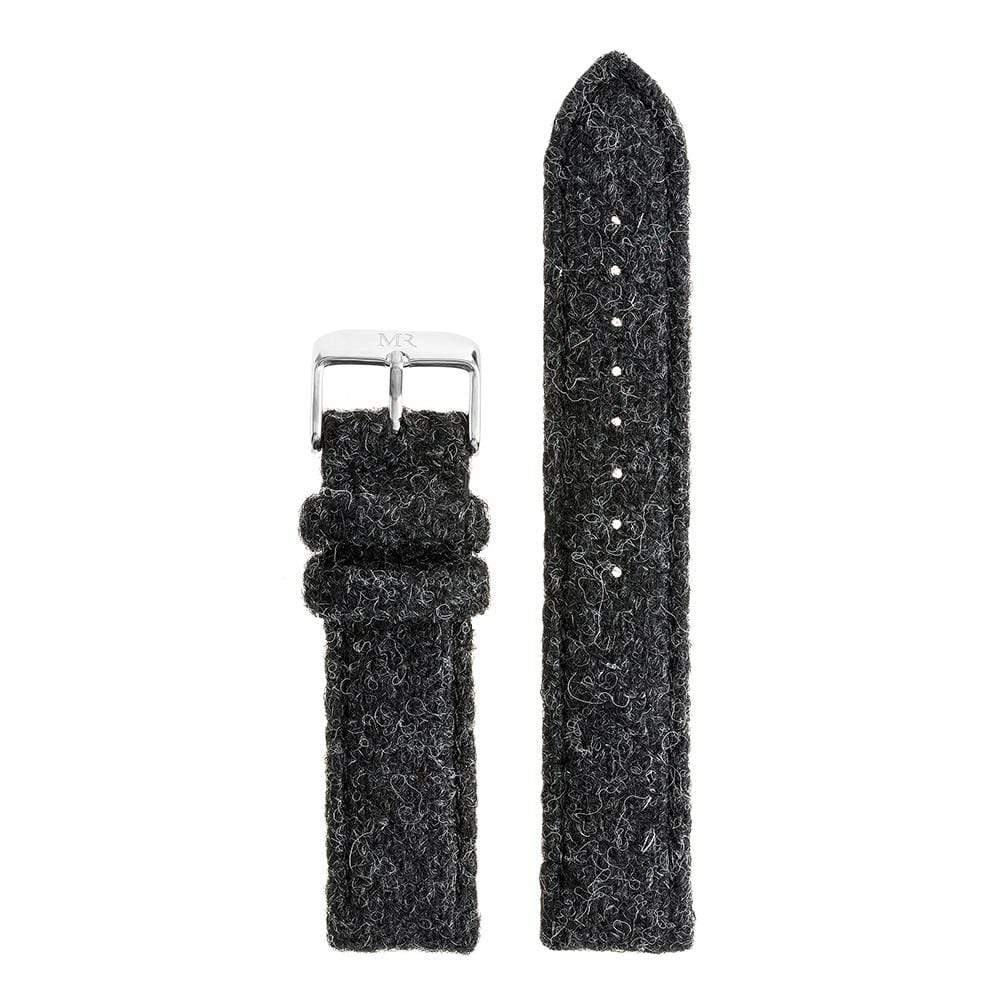 Hardwick Watch Strap Harris Tweed 20mm Silver - Morris Richardson