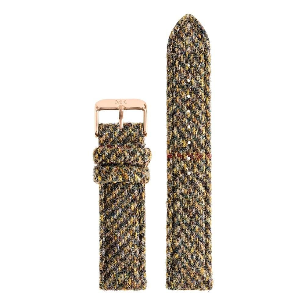 Chatsworth Watch Strap Harris Tweed 20mm Rose Gold - Morris Richardson