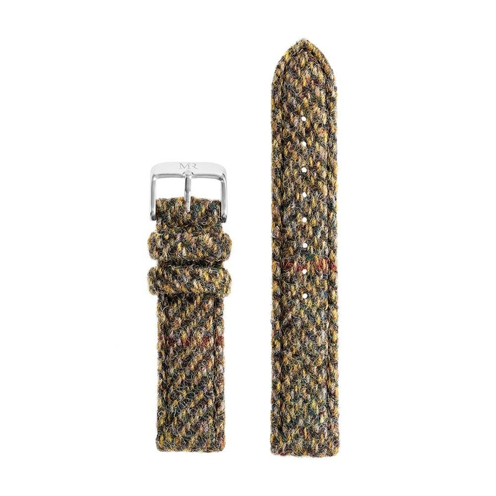 Chatsworth Watch Strap Harris Tweed 18mm Silver - Morris Richardson