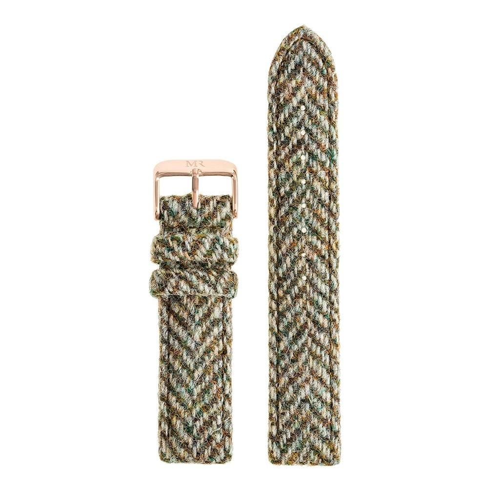 Howard Watch Strap Harris Tweed 20mm Rose Gold - Morris Richardson