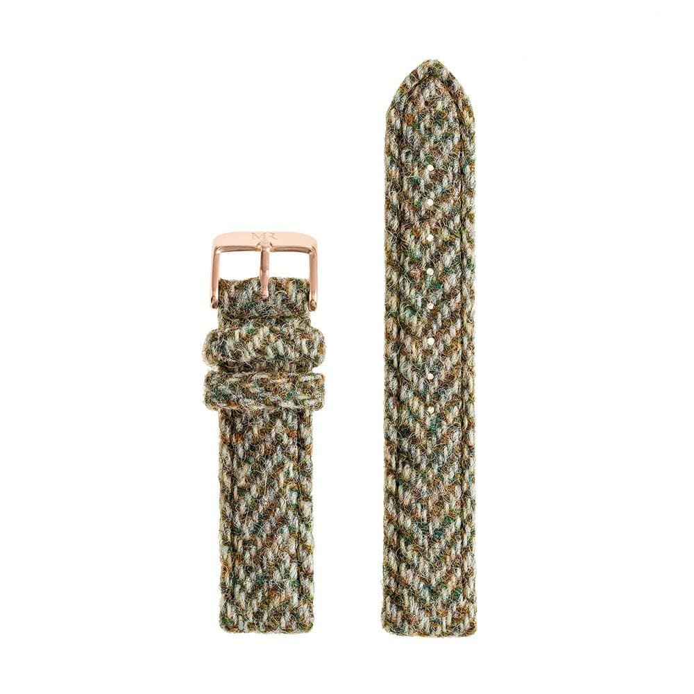 Howard Watch Strap Harris Tweed 18mm Rose Gold - Morris Richardson, 913601008