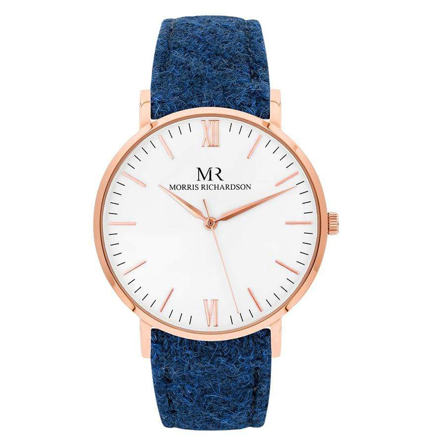 Mens Badminton Classic Rose Gold 40mm Harris Tweed Watch – Morris Richardson