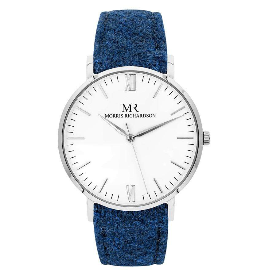 Mens Badminton Classic Silver 40mm Harris Tweed Watch – Morris Richardson