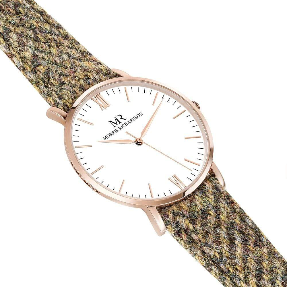 Chatsworth Watch Harris Tweed 40mm Rose Gold – Morris Richardson