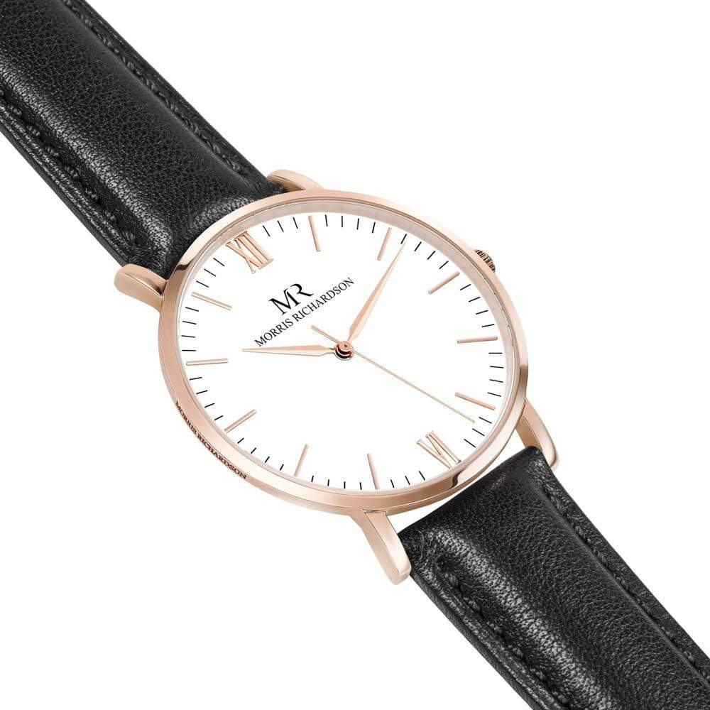 Chequers Watch Leather 40mm Rose Gold – Morris Richardson