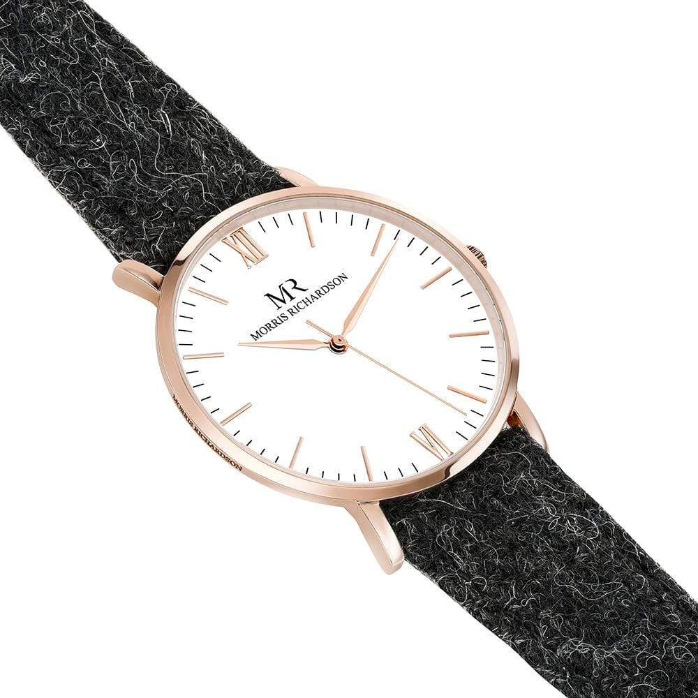 Hardwick Watch Harris Tweed 40mm Rose Gold – Morris Richardson