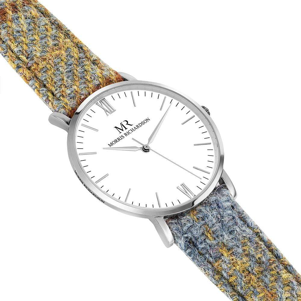 Mens Highclere Classic Silver 40mm Harris Tweed Watch – Morris Richardson