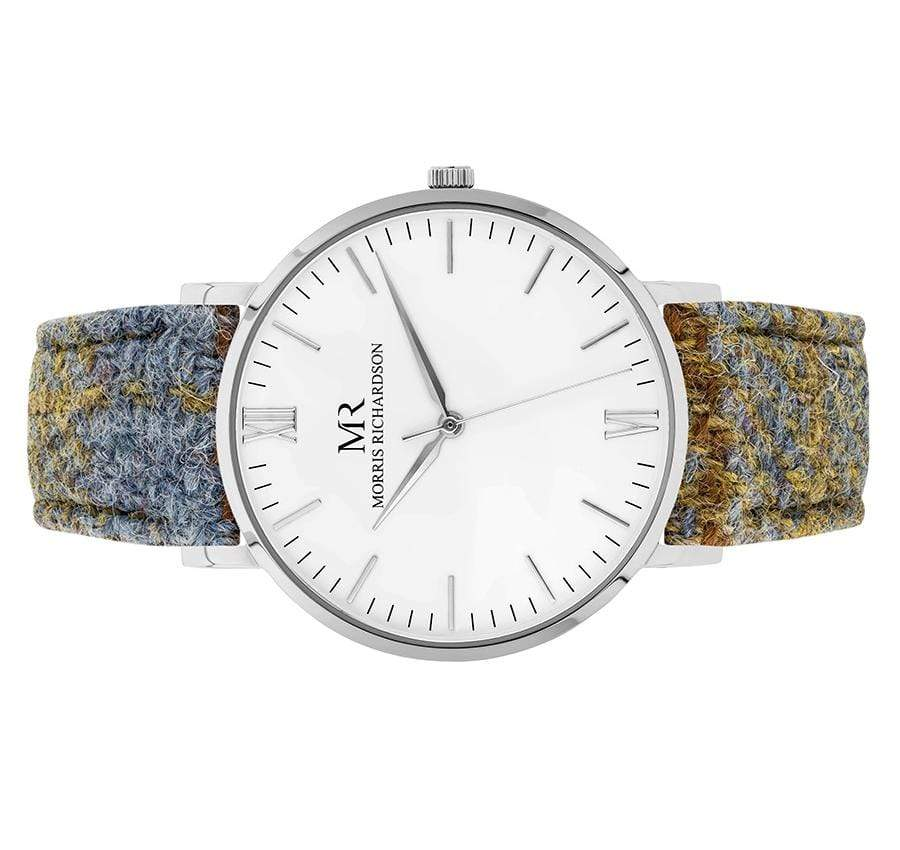 Highclere Watch Harris Tweed 40mm Silver – Morris Richardson