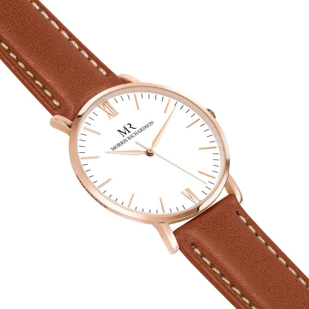 Osborne Watch Leather 40mm Rose Gold – Morris Richardson