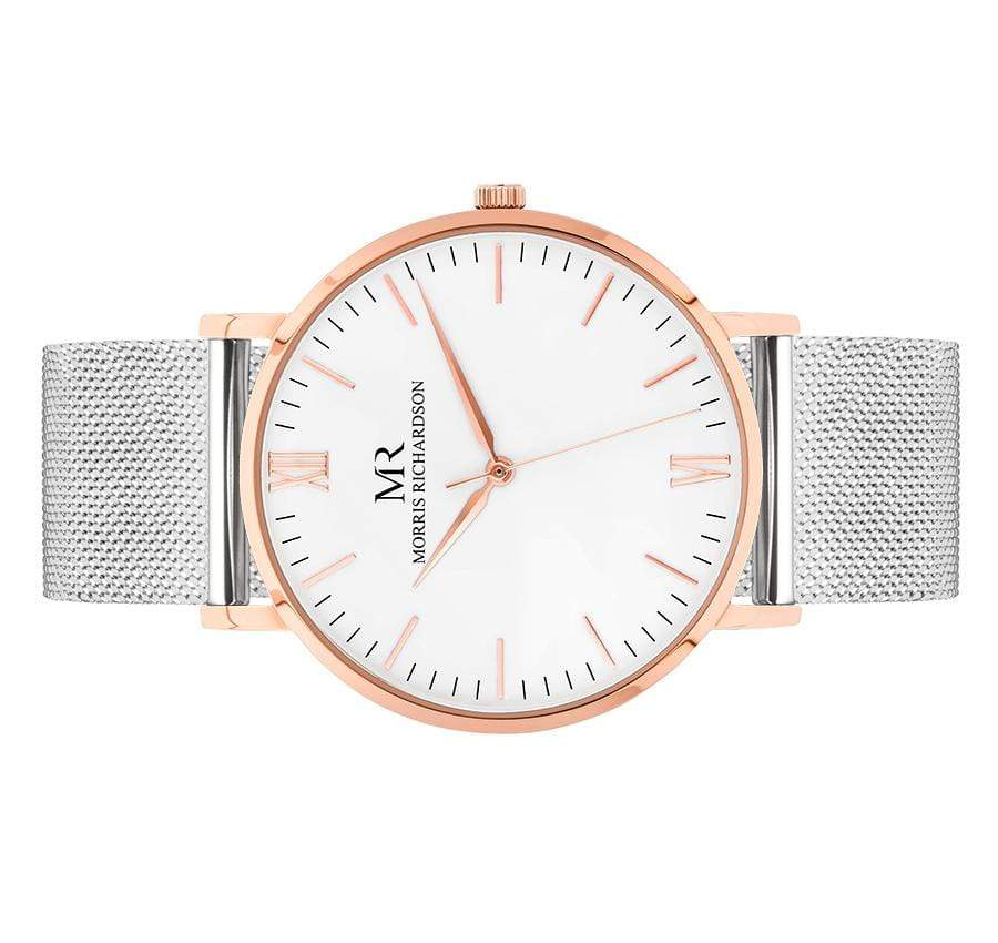 Mens Wentworth Classic Rose Gold 40mm Milanese Mesh Watch – Morris Richardson