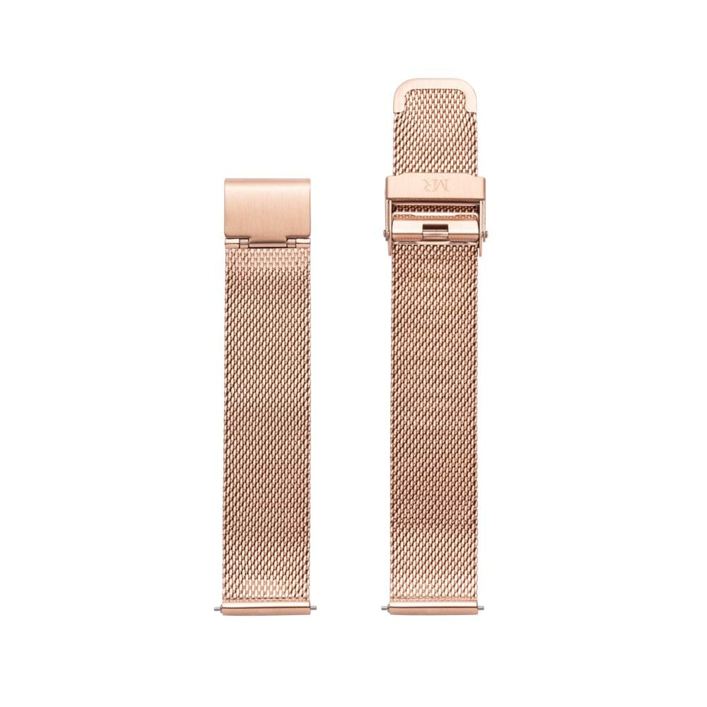 Holkham Watch Strap Milanese Mesh 18mm Rose Gold - Morris Richardson, 913601015