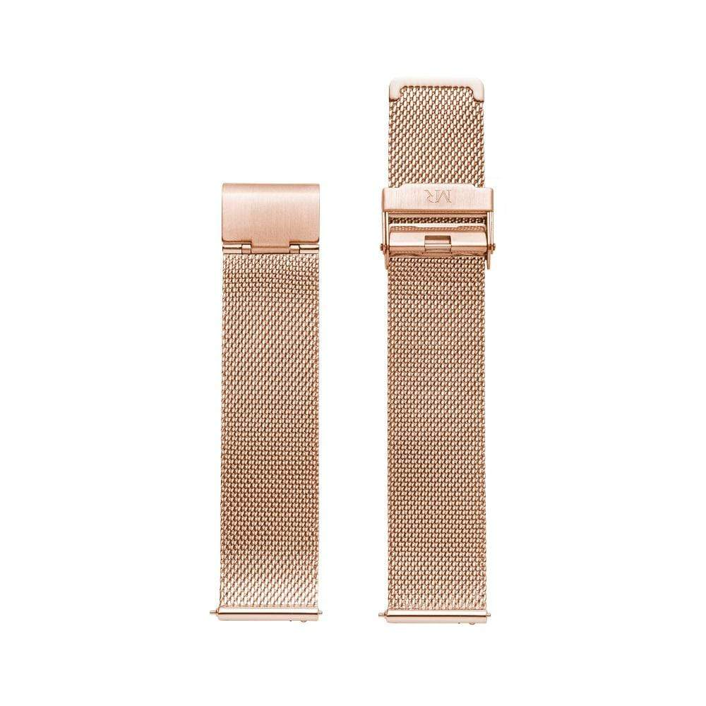 Holkham Watch Strap Milanese Mesh 20mm Rose Gold - Morris Richardson