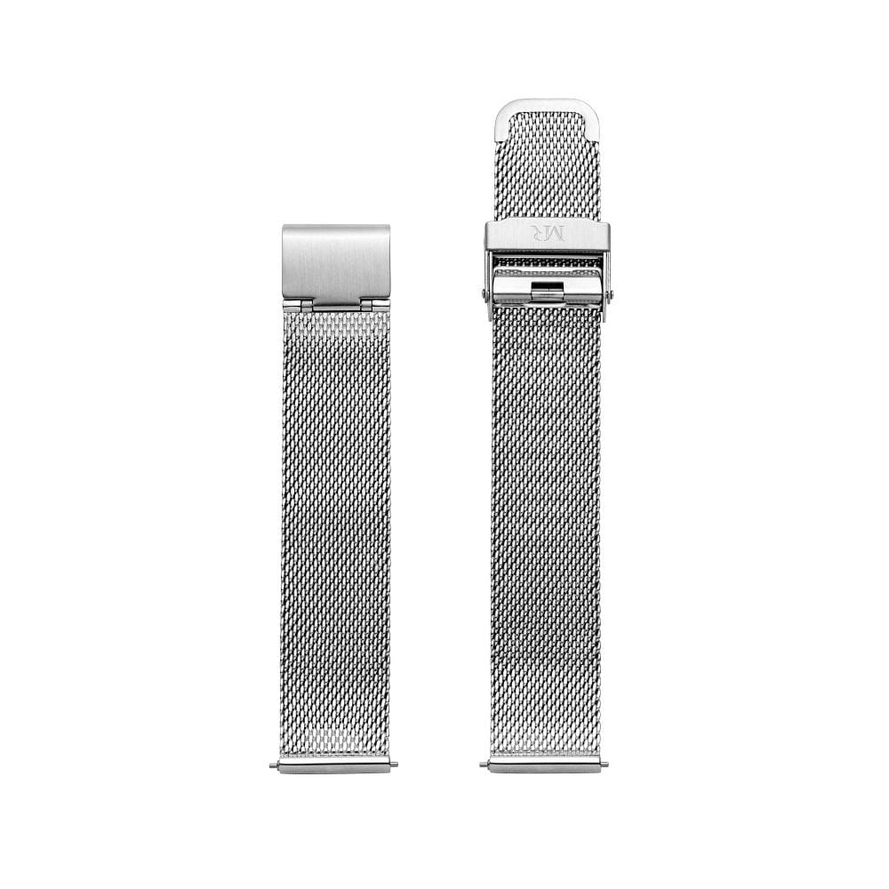 Holkham Watch Strap Milanese Mesh 18mm Silver - Morris Richardson