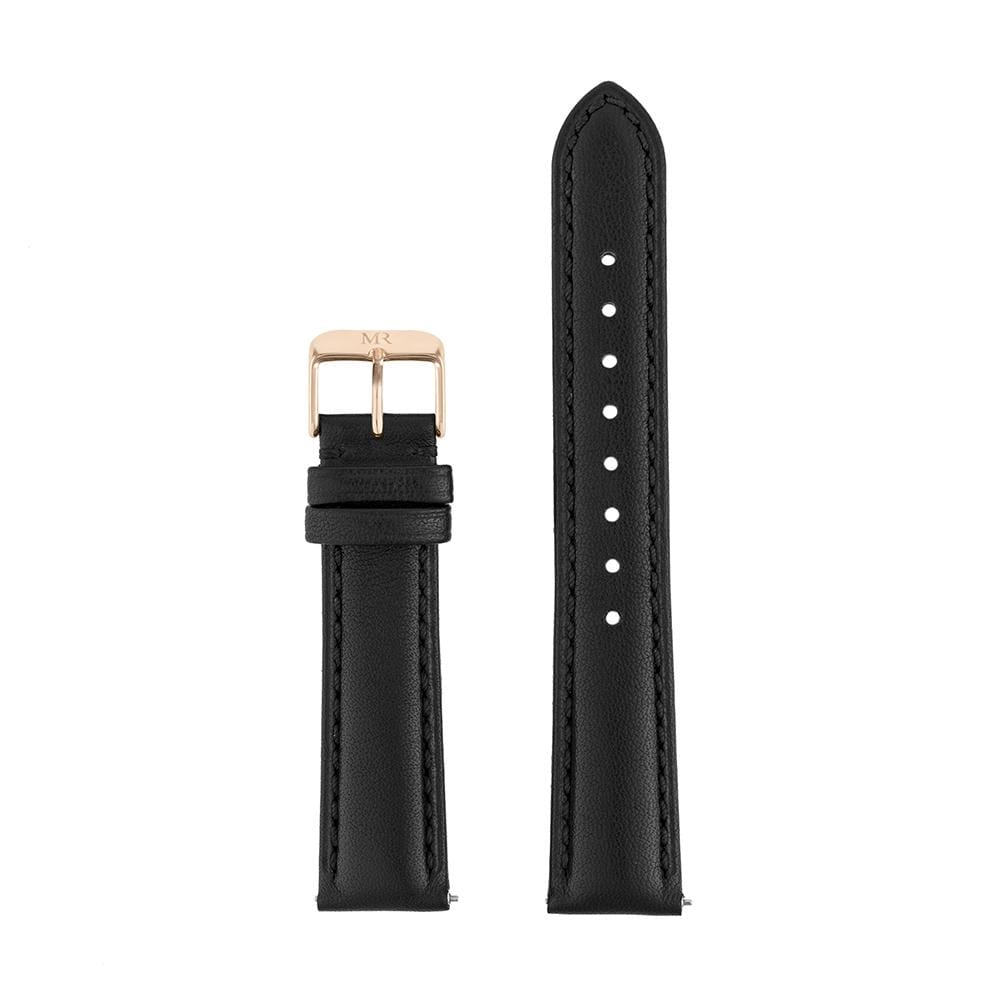 Chequers Watch Strap Leather 18mm Rose Gold - Morris Richardson