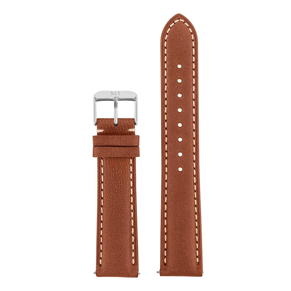 Osborne Watch Strap Leather 20mm Silver - Morris Richardson