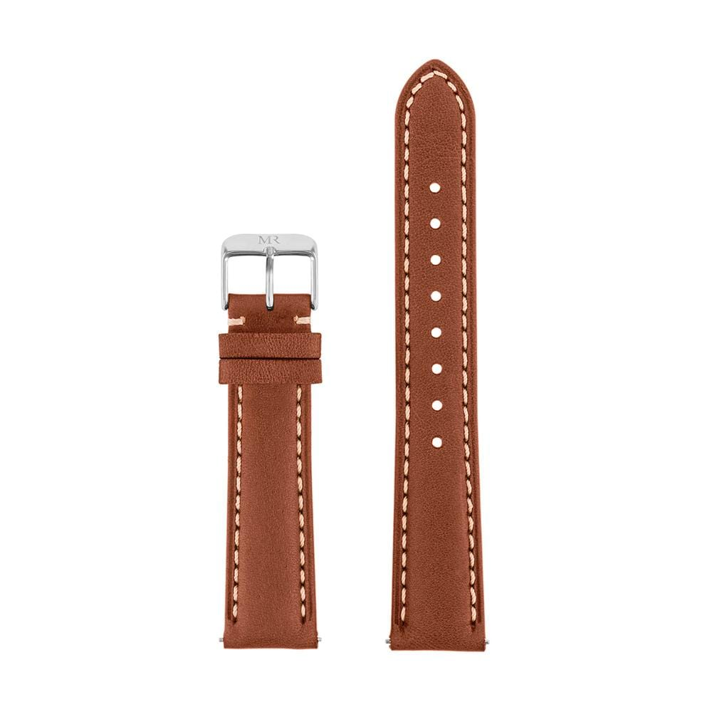 Osborne Watch Strap Leather 18mm Silver - Morris Richardson