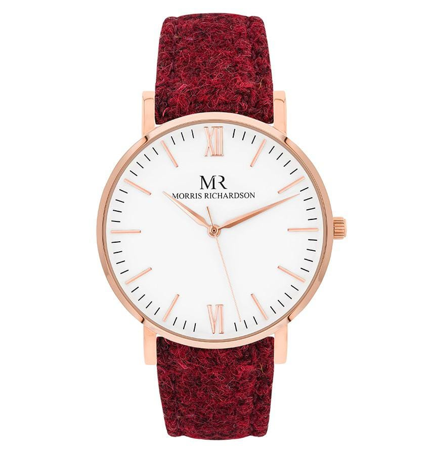 Belton Watch Harris Tweed 36mm Rose Gold – Morris Richardson